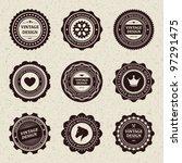 vintage style retro emblem... | Shutterstock .eps vector #97291475