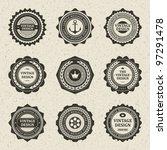 vintage style retro emblem... | Shutterstock .eps vector #97291478