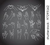 gestures of human hands | Shutterstock .eps vector #97295162