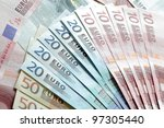 European banknotes fan - stock photo