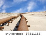 Oil Pipeline In The Desert Of...