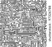 computer circuit board pattern  ... | Shutterstock .eps vector #97326788