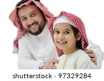 happy father and son | Shutterstock . vector #97329284