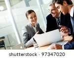 successful businessteam of... | Shutterstock . vector #97347020