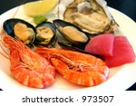 Cold Platter Of Seafood  Baked...