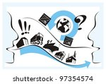 helpful supplier explaining... | Shutterstock . vector #97354574