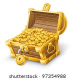 vector illustration of treasure ... | Shutterstock .eps vector #97354988