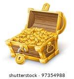 vector illustration of treasure ...   Shutterstock .eps vector #97354988