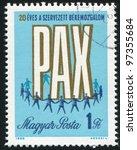 hungary   circa 1969  a stamp...   Shutterstock . vector #97355684
