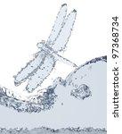 flying dragon of liquid made in ...   Shutterstock . vector #97368734