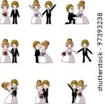 set of wedding  bridegroom and... | Shutterstock .eps vector #97393238