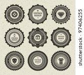 vintage style retro emblem...   Shutterstock .eps vector #97406255