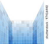 abstract glass skyscrapers ... | Shutterstock .eps vector #97416440