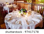 wedding table set for fine... | Shutterstock . vector #97417178