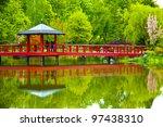 Bridge In Japanese Garden In...