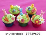Easter Cupcakes With Bunnies ...