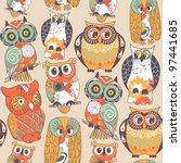 Seamless Owl Pattern.
