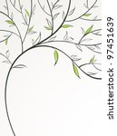 stylized spring branch | Shutterstock .eps vector #97451639