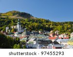banska stiavnica old castle and ... | Shutterstock . vector #97455293