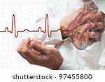heart attack and heart beats... | Shutterstock . vector #97455800