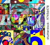 abstract graffiti collage ...   Shutterstock . vector #97456478