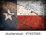Image Of An Old Texas Flag On...
