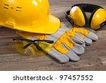 standard construction safety... | Shutterstock . vector #97457552