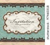 vintage frame template  7  | Shutterstock .eps vector #97460318