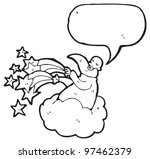 cartoon god creating universe | Shutterstock . vector #97462379