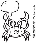 happy crab with speech bubble | Shutterstock . vector #97467266