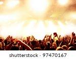 cheering crowd at concert | Shutterstock . vector #97470167