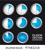 blue timer clock over black... | Shutterstock .eps vector #97482218