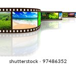 photo film with reflection on... | Shutterstock . vector #97486352