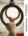 human hanging in gymnastic rings | Shutterstock . vector #97508606