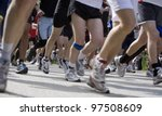 large group of people in a... | Shutterstock . vector #97508609