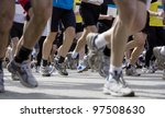 large group of people in a... | Shutterstock . vector #97508630