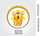 social networking color... | Shutterstock .eps vector #97519193