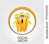 social networking color... | Shutterstock .eps vector #97519193