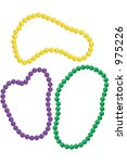 mardi gras beads in the classic ...   Shutterstock . vector #975226