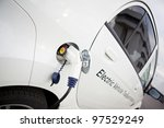 cable hanging down from gas... | Shutterstock . vector #97529249