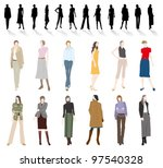 women's fashion | Shutterstock .eps vector #97540328