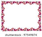 flowers frame in white... | Shutterstock . vector #97549874