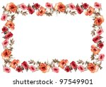 Flowers frame in white...