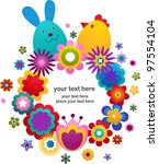 easter vector background with... | Shutterstock .eps vector #97554104