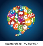 social media icons  ... | Shutterstock .eps vector #97559507