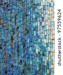Blue And White Mosaic Tiles