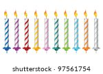 vector birthday candles | Shutterstock .eps vector #97561754