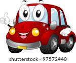 illustration of a car mascot...