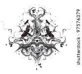 grunge heraldic design | Shutterstock .eps vector #97576379