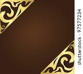 elegant vintage frame with... | Shutterstock .eps vector #97577234